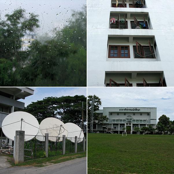 The Neighborhood...Rainy day, Open Windows, Satelites, Athletic Club