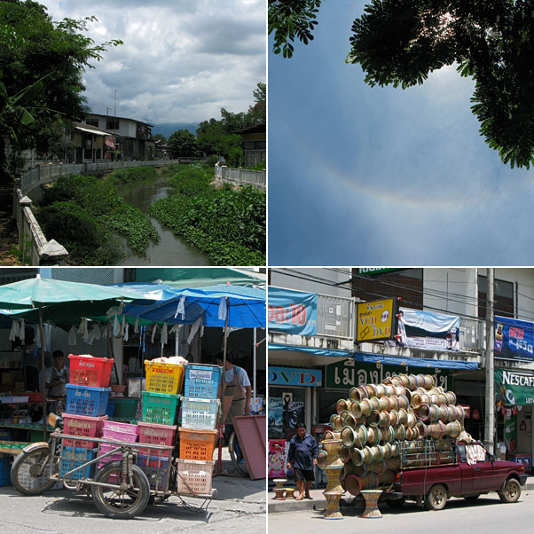 Near the Market...Small Canal/Sewer, Sun Halo, Delivery Cart, Delivery Truck