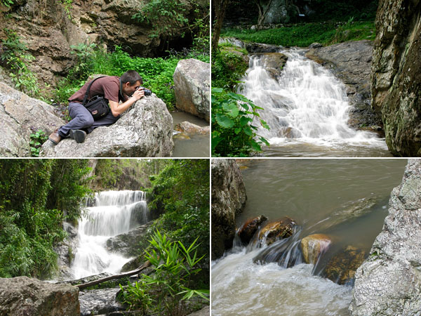 Here are some of my attempts to capture the falls.  I was wearing a skirt and shoes with no traction, so I wasn't willing to venture as far onto the rocks.  Next time.