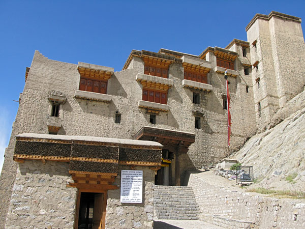 This is the entry side to the Leh palace.  It was built in the 17th Century and is now in a general state of disrepair.  It was fascinating to walk through the rooms and imagine what it must have been like to live or work here.