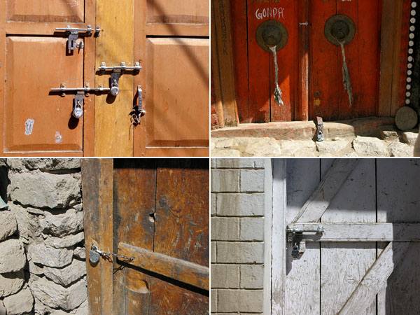 Pad locks are the norm here in India.  Most doors only have one, but some have three or five.