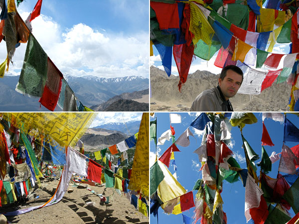 Prayer flags of all shapes, sizes and colors.