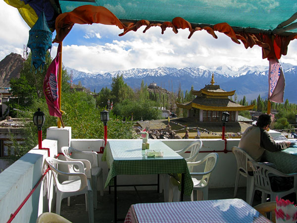 Leh View Restaurant...Nik and I went here twice for lunch.  The food was good, but the view is why we came back.