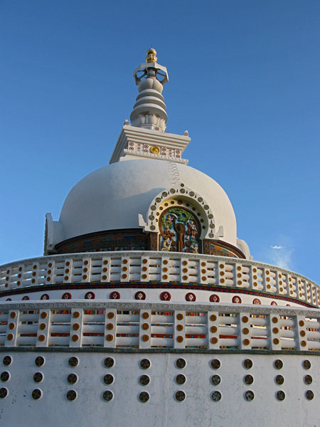 Shanti Stupa.  We came up here one day at sunset, and we barely made it in time.