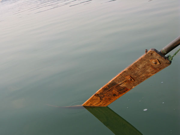 The oar that took us across the lake