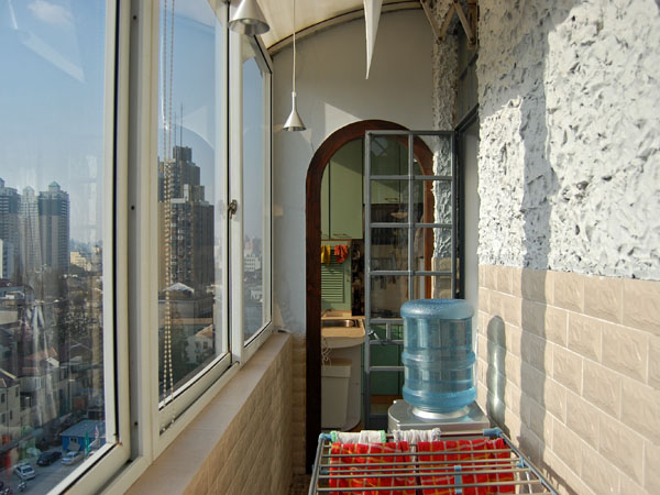 The balcony of Klara & Gerhard's amazing apartment*