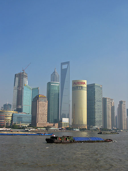 The newest area of Shanghai, otherwise known as Pudong