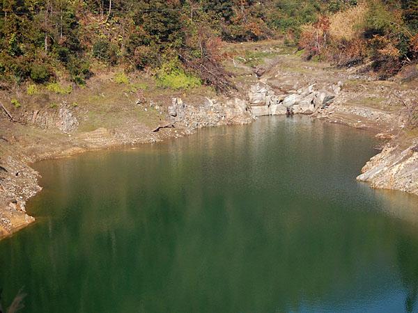 ...a lake...