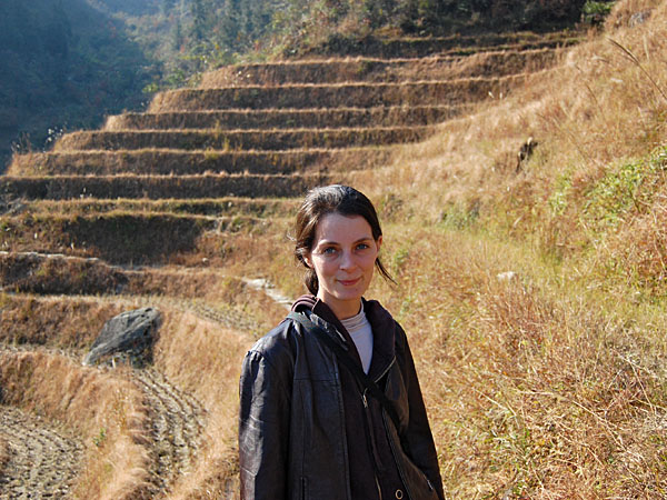 ...me in the rice terraces...