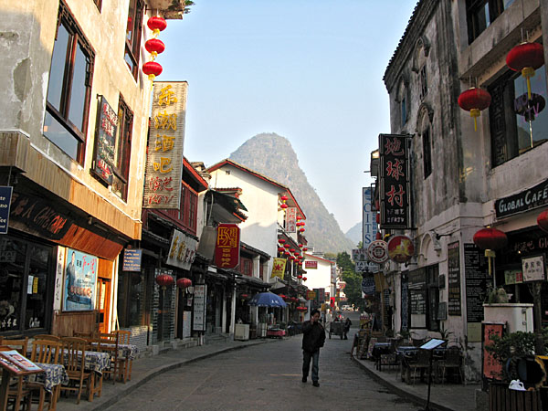 West Street, the tourist center before breakfast
