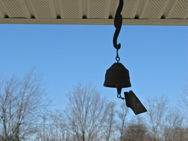 The windchime that used to hang on my grandfather's back porch, but now hangs on my parents'. It has the best ring and does so at the tiniest gust. I love it.