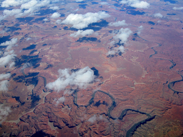 I think we flew over the Grand Canyon between Salt Lake City and Dallas, which is pretty high up on my &quot;I want to go there next&quot; list. 