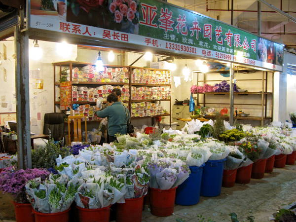 Where there are hundreds of flower stalls.