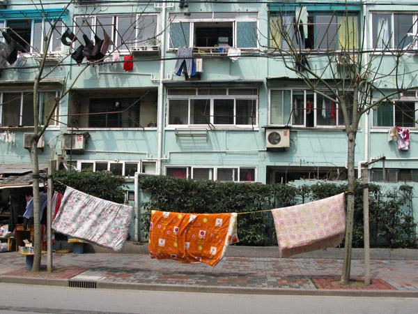 Bedspreads on the Sidewalks