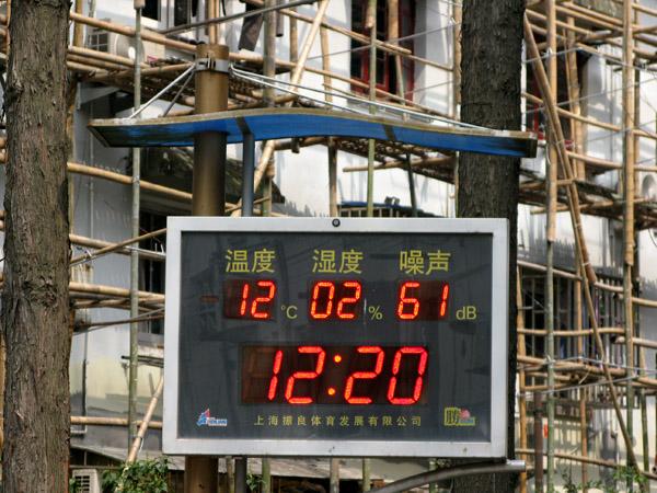 Neighborhood Thermometer/Clock