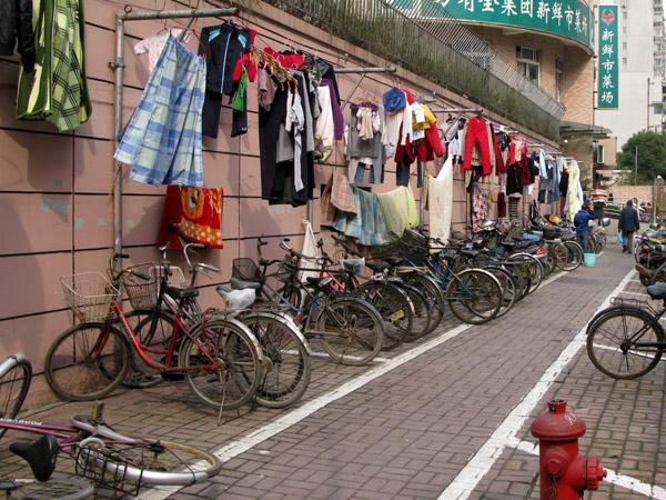 Laundry over Bike Parking