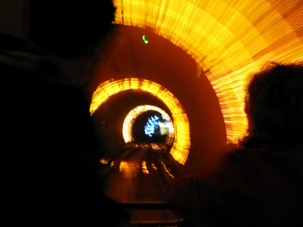 The tunnel lights