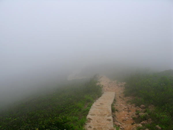 Walking in a cloud