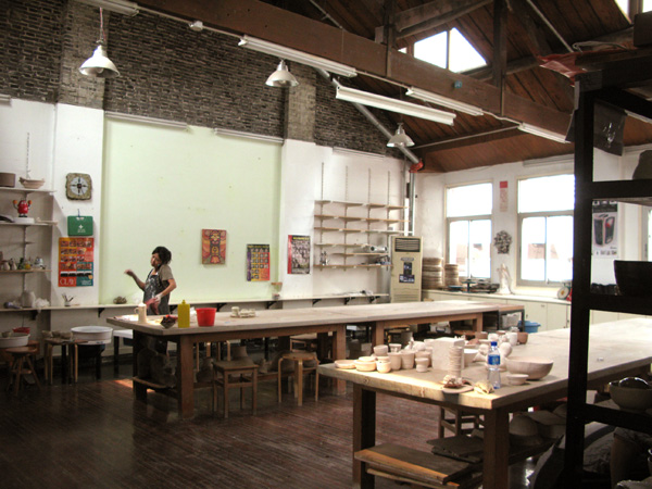Ceramics studio at The Pottery Workshop