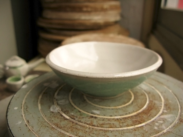 """The bowl is about 4"""" in diameter and 1 1/2"""" tall"""