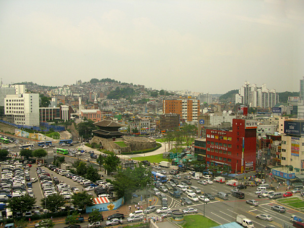 The view of Dongdaemun from the ladies restroom