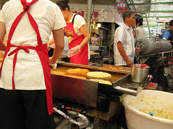 Ladies making deep-fried goodness