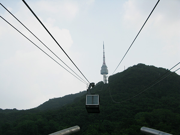 The Namsan Tower Cable Car