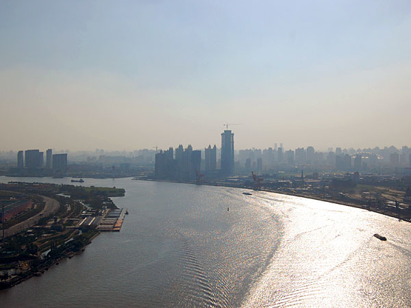 The Huangpu River from the top of the Lupu Bridge