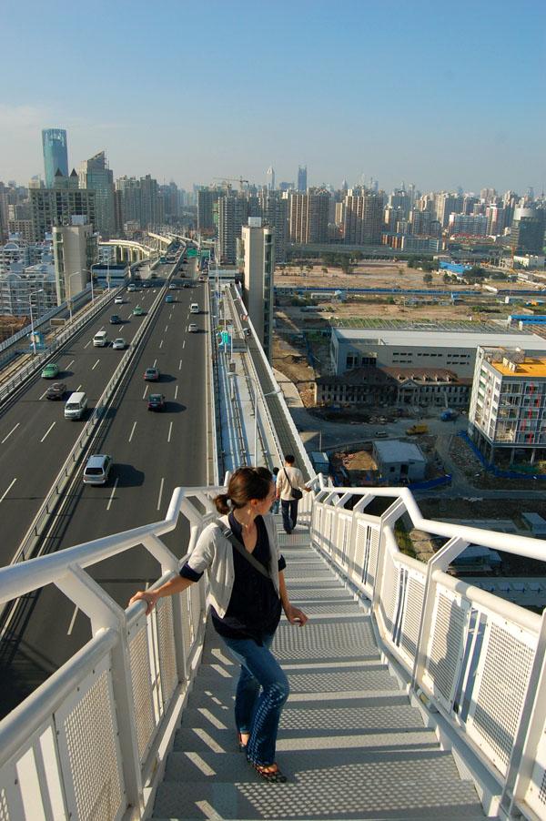 Climbing the Lupu Bridge