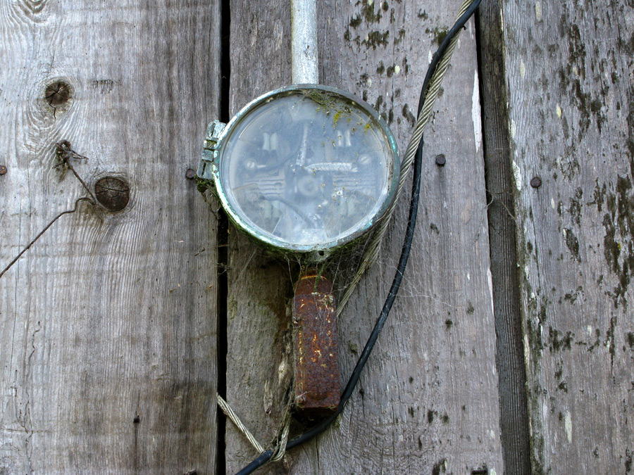 An old electricity meter