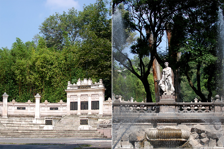 Chapultepec Park sculpture and amphitheater