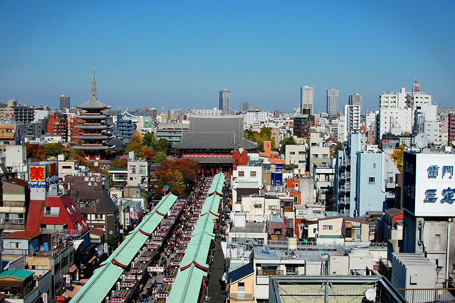 View from the Asakusa Culture Tourist Information Center