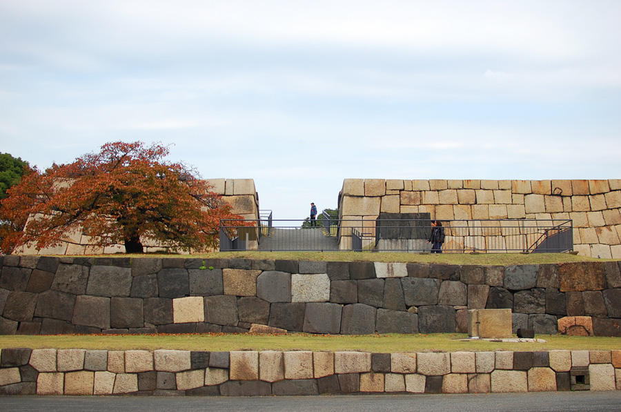 The incredible hand laid stone walls of the Imperial Palace
