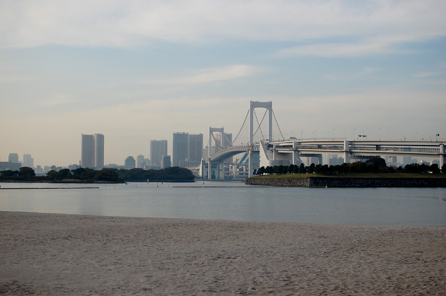 Tokyo's man-made beach - Odaiba