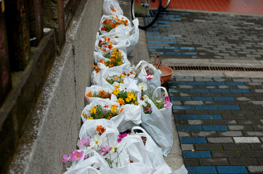 Street side flowers ready for pick up?