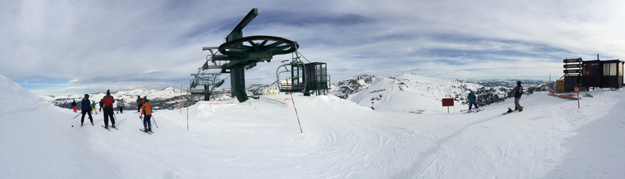 At the top of Heavenly - February 2014