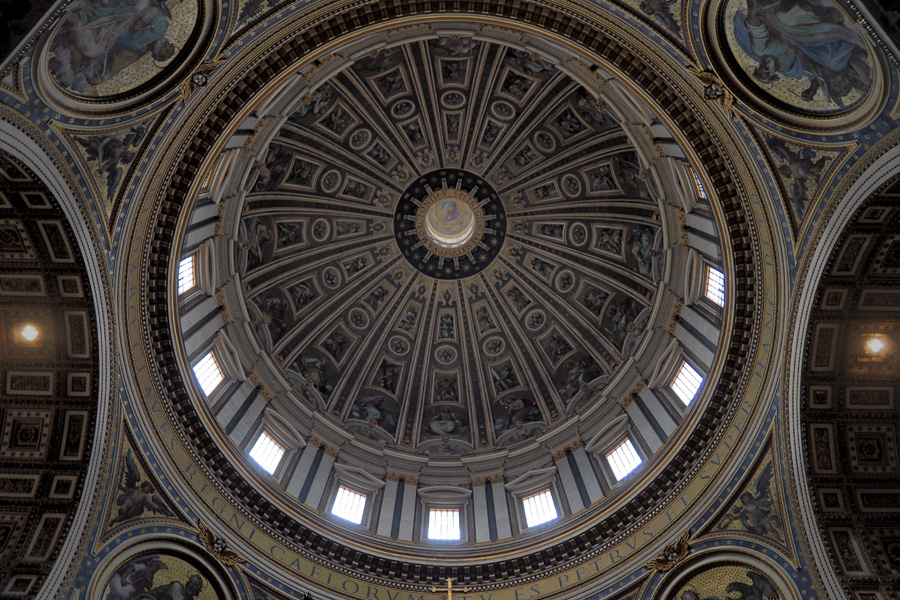 The main dome at Saint Peter's Basilica