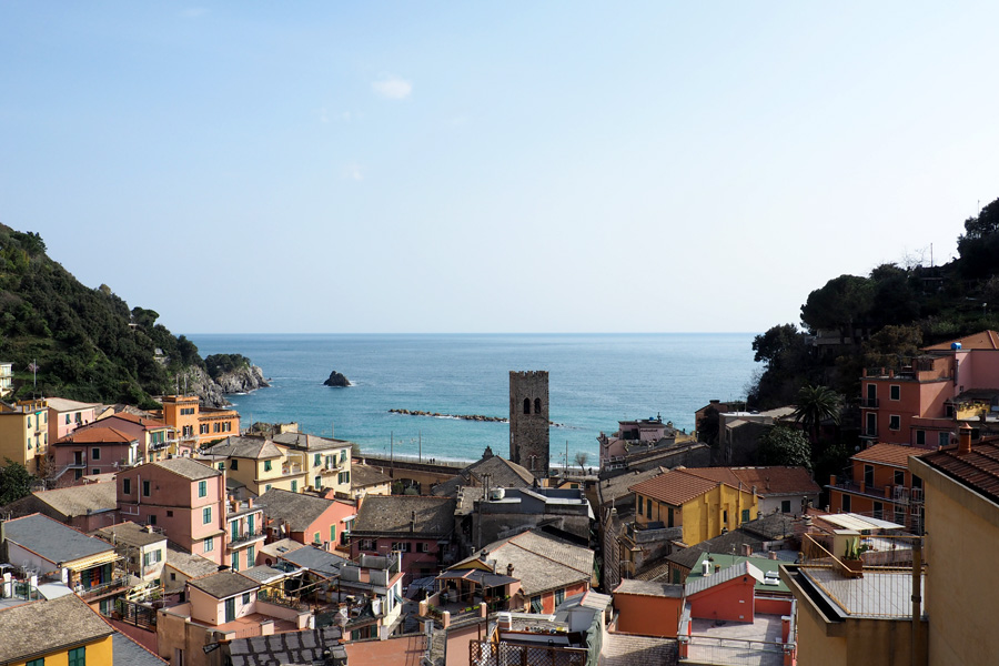 Our view from Manuel's Guesthouse in Monterosso