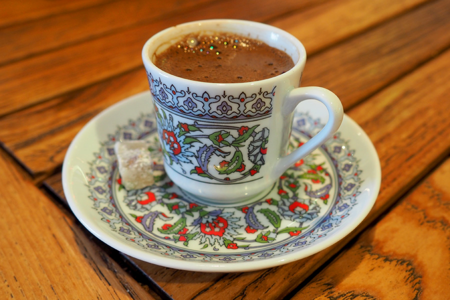 The perfect cup & saucer with Turkish Coffee