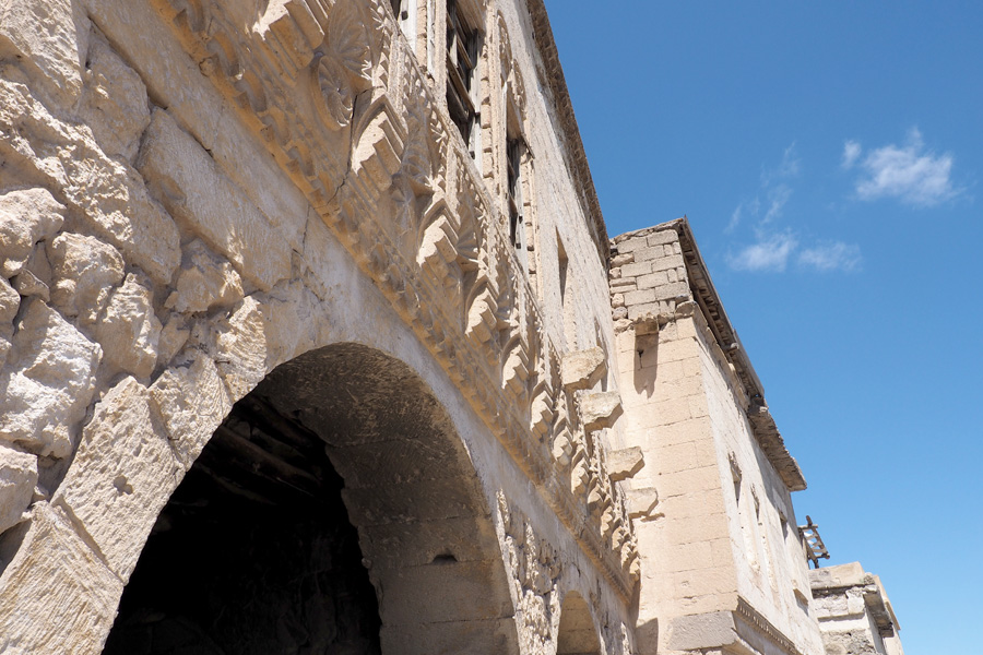 Detailed stone work in Ürgüp