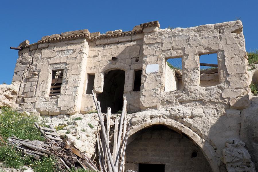 Buildings in ruin
