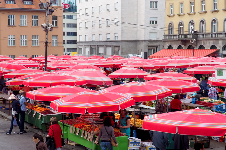 The red umbrellas Croatia is known for