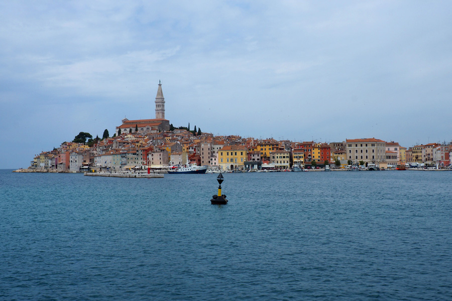 Rovinj from the Adriatic