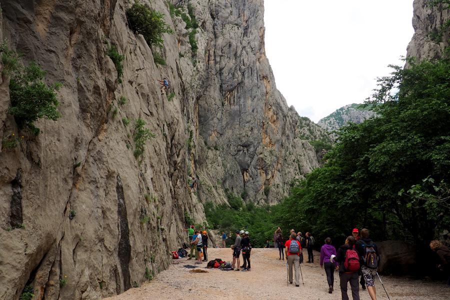 Paklenica rock climbing
