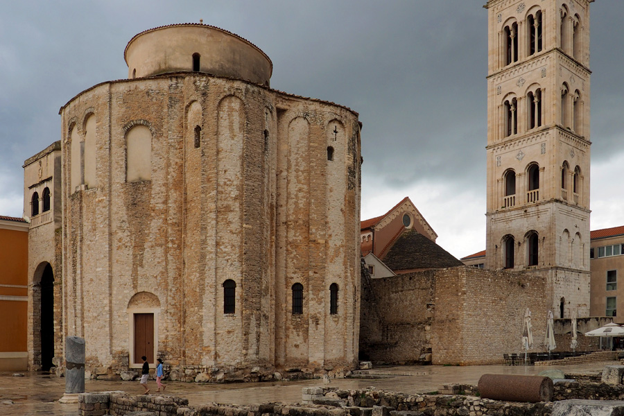 Zadar - St Donatas Church in the rain