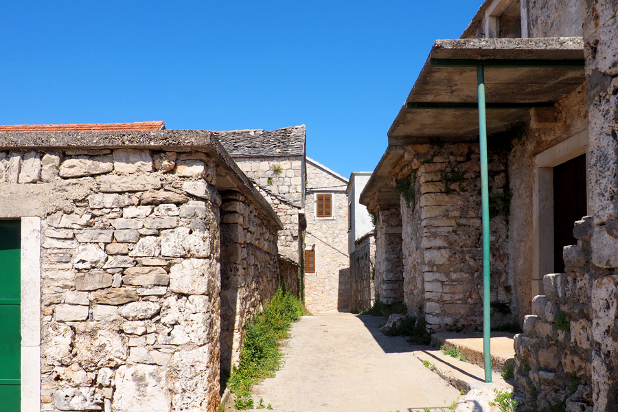 Farm town on Hvar Island