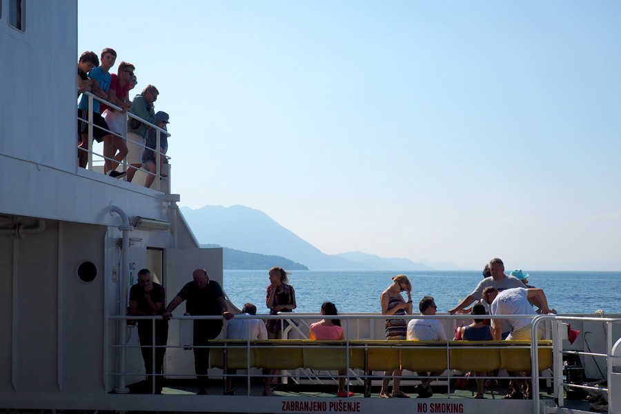 Passengers enjoying the view