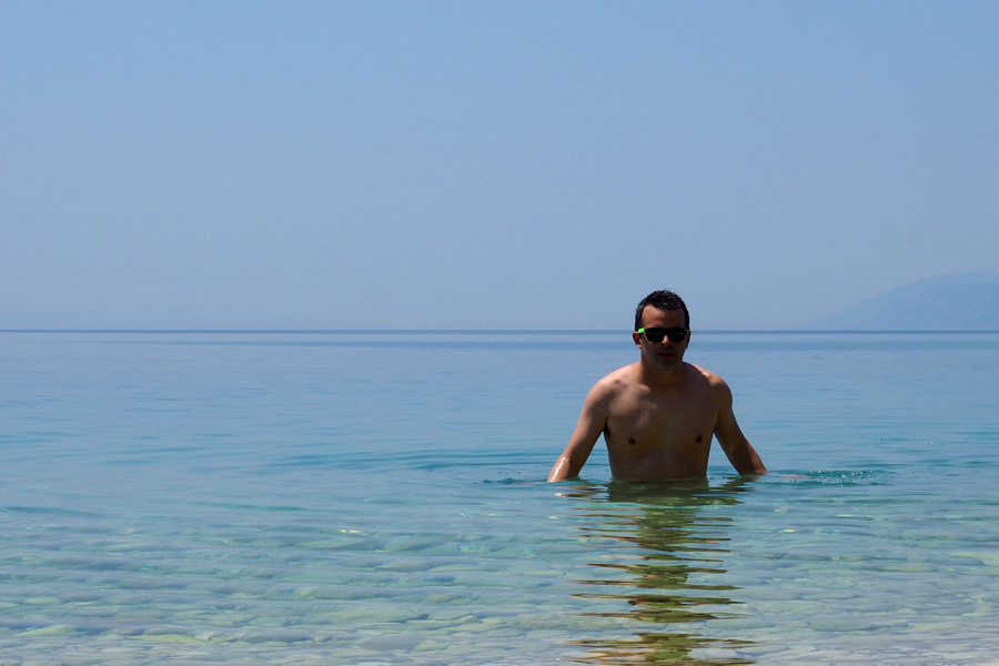 Nik in the Adriatic