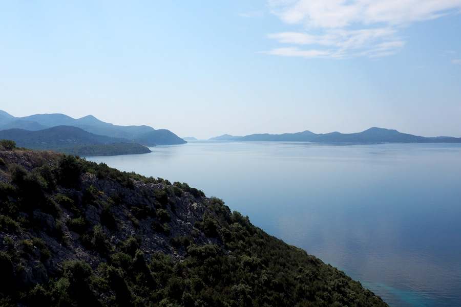 Our final view of the Dinaric Alps meeting the Adriatic Sea