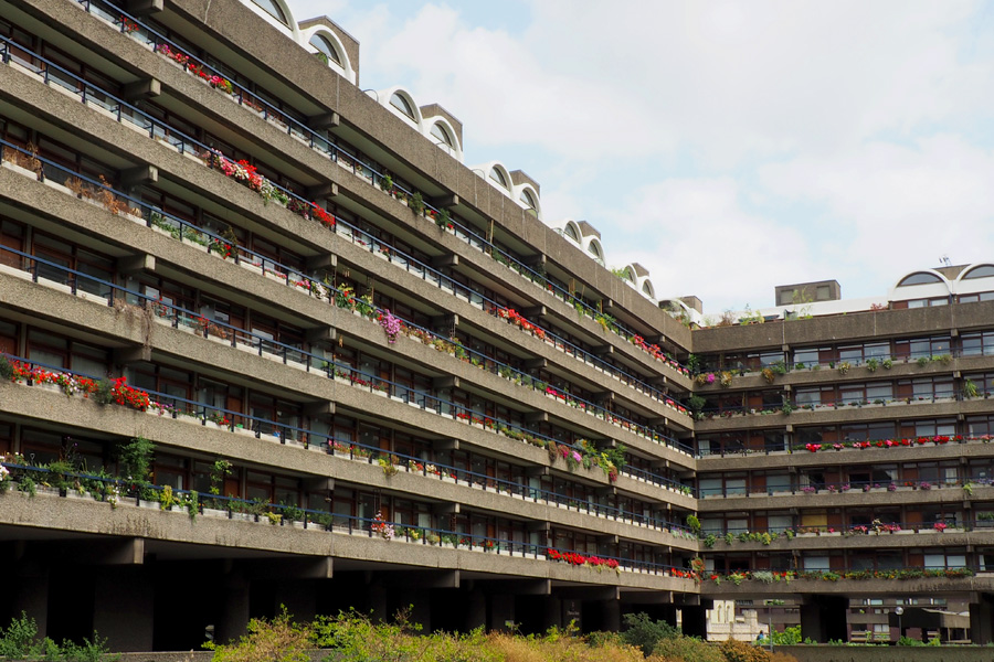 The Barbican Centre - surprisingly successful Brutalist architecture